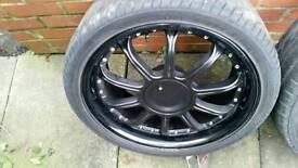 19 inch alloy wheels 4x 108