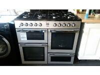 FLAVEL 100cm range dual stainless steel cooker