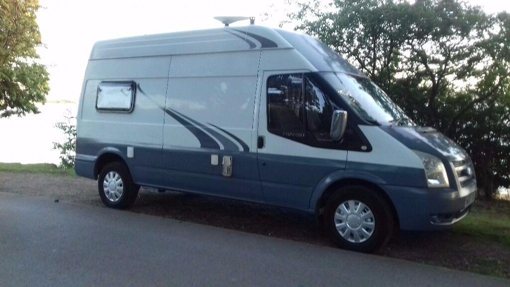 Campervan Transit Tourer Camping Camper Van Lwb Touring Campervans 2 Berth Reduced For Quick Sale