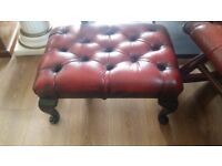 Chesterfield rocking chair and footstool antique