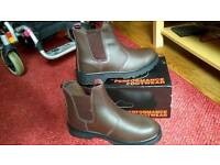 Chelsea work boots steel toecap