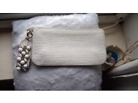 Beautiful Valentino clutch bag. White snake skin. In great condition £60.00 ono