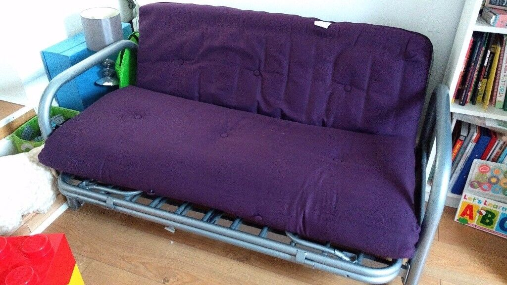Argos HOME Mexico 2 Seater Futon Sofa Bed Purple
