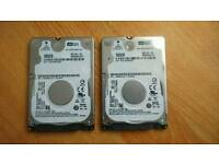 2x Hard Drive WD 500Gb For Laptop Pc