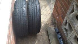 2x Hankook van tyres