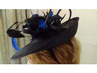 Dark Blue hat by Perri Ashby of London