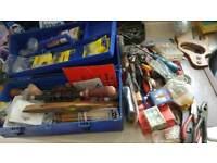 Tool box and bag of tools and bits