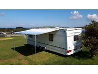 Fiamma caravanstore awning 440cm with front and two side panels.