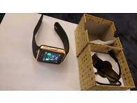 Android IOS iPhone Bluetooth Smart Watch Rose Gold (works with Samsung, Apple, Sony etc)