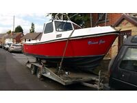 ROMANY 21 GRP 21 X 8 FT INBOARD 2.5 DIESEL SEA GOING FISHING BOAT