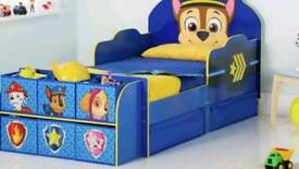 Paw patrol cube toddler bed frame with drawers