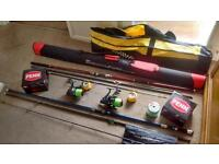 Beachcasting rods and reels