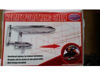 New Motorcycle Helmet Gloves Clothing Kit Black Storage Shelf Tidy Rack