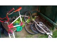 Free scooter 80s BMX 3 Wheels 2 skateboards 70s