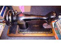 Singer Sewing Machine Hand Crank Model 201K