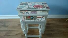 Gorgeous shabby chic nest of tables