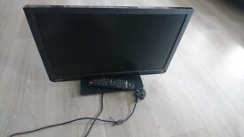 21 inch TOSHIBA LCD COLOUR TV WITH BUILT IN DVD PLAYER