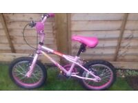 Pink Girls Apollo Bicycle £15. Been well looked after. Only selling as daughter has outgrown.