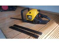 McCulloch petrol hedge trimmer like new