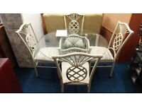 cast iron table and 4 chairs