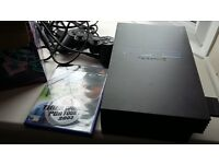 PS2 console, controller, dancemat and 1 game