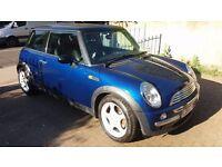 Blue Automatic Mini Cooper 1.6