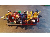12 marvel and dc lego minfigures