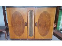 Authentic Vintage 1950s entertainment center, grama phone and valve radio