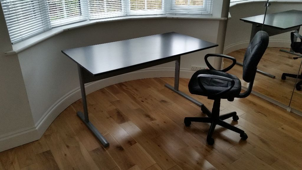 Ikea Fredrik Black Office Desk With Cable Tray Amp Free