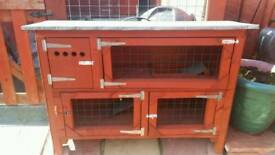 Strongly built double hutch