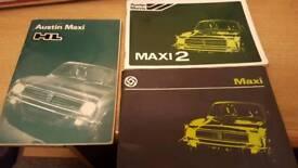 Austin Maxi handbooks x 3 fab condition