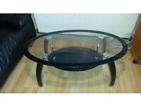 Black Glass Coffee Table For Sale!!