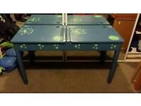Lovely hand-painted children's double desk