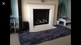 Brand new plush grey rug 114cm x 60cm super soft snuggly