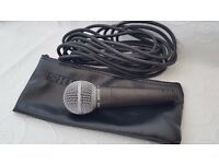 SHURE SM58 WITH LEAD AND CASE!