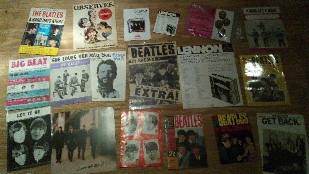 """110 x beatles collection vinyls LP's/7""""/books / tour prog / shop display /"""