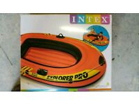 Inflatable Boat 1 Person Rubber Beach Pool Sea Dinghy Intex Explorer Pro 100