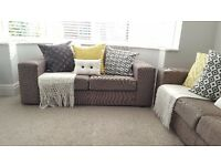 2 x Sofa 2 Seater Fabric