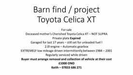 Barn find / Restoration Project Toyota Celica **** Now Sold****