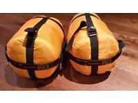 2 x kids Ajungilak Tundra sleeping bags