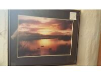 "Black-framed Photograph of Isle of Mull ""Winter Sunrise"" by K. C. Stanten"