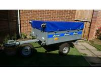 Trailer Duuo with cover and spare wheel