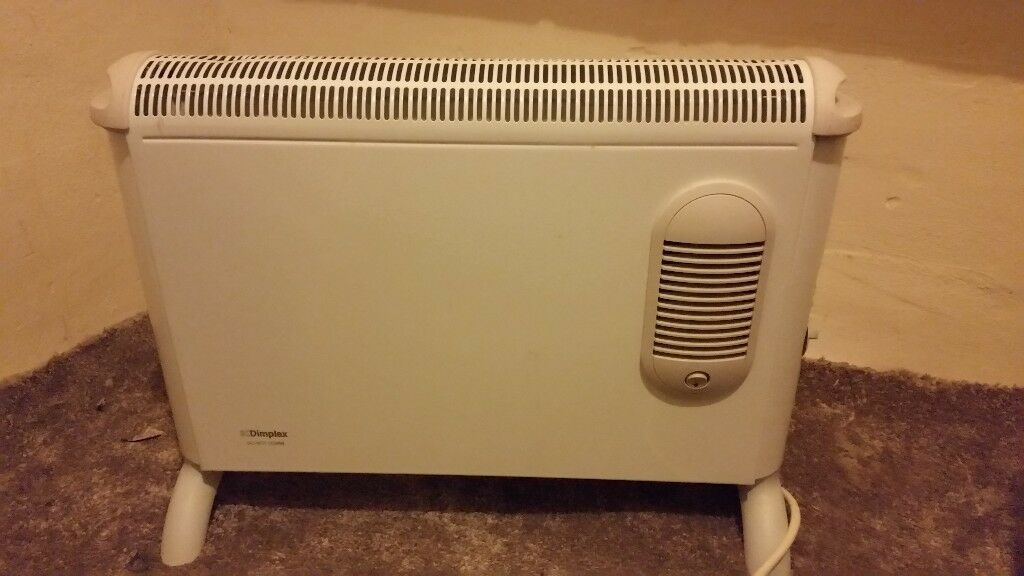 dimplex electric heater with fan heater on the front no damage