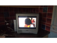 "Sony Digital Set-top Receiver VTX-D800U and Sony Trinitron 14"" TV KV-14CT1U in good clean condition"