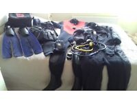 Diving gear for sale mens and ladies full set