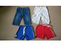9-12 months baby boys clothes trouser and shorts bundle