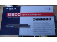 Phonic i2600 speaker management system RTA/CROSSOVER/AGC/FBK/SUB/USB/AES/EBU