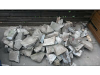Free Broken Paving Slabs - Suit crazy paving or infill material.