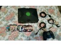 xbox console + 11 games