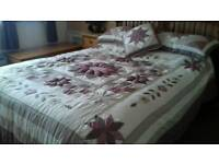 Quilted double bedding set